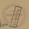 Allgemeiner Deutscher Gewerkschaftsbund. Zentralbibliothek / Stempel