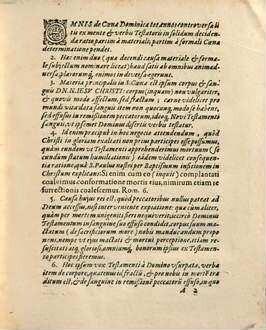 Ratio totius controversiae de coena domini ex mente et verbis testatoris in solidum decidendae