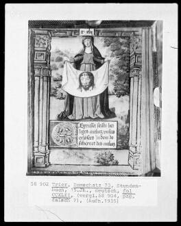 Stundenbuch: Die heilige Veronika
