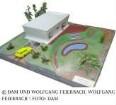 Erster Kunststoffhaus-Entwurf (Vorläufer fg2000) - Modell des Gesamtgebäudes mit Umgebung