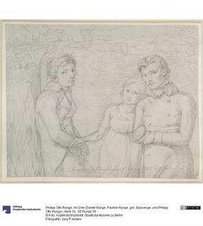 Wir Drei (Daniel Runge, Pauline Runge, geb. Bassenge, und Philipp Otto Runge)