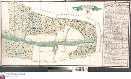 Karte der strittigen Jagdgebiete zu Unter-Mossau und Ober-Mossau