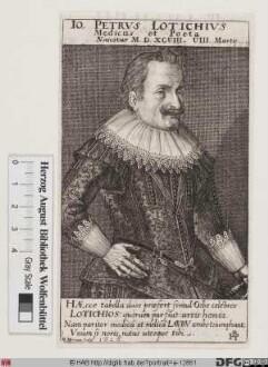 Bildnis Johann Peter Lotichius