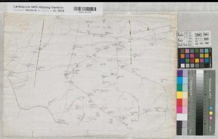 Schwelm (Schwelm) - Straßenkarte der Umgebung - um 1800 - o.M. - 36 x 52 - Zeichnung - KSA Nr. 313