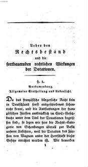 Ausführung des Rechtsbestandes und der fortdauernden rechtlichen Wirkungen der von der vormaligen französischen Regierung dem Fürsten Alexander von Wagram verliehenen Dotation, und der dadurch begründeten Ansprüche seiner Erben auf die Güter im ehemaligen Roerdepartement, gegenwärtigen Großherzogthum Nieder-Rhein