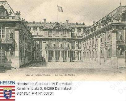 Frankreich, Versailles / Schloss, Marmorhof