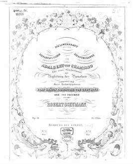 ˜Dieœ Löwenbraut : Ballade. Die Kartenlegerin: nach Béranger ; Die rote Hanne: nach Béranger; von Adelbert von Chamisso ; für 1 Singstimme mit Begl. d. Pianoforte ; op. 31