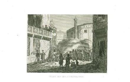 Scene aus der Julyrevolution
