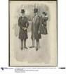 Zwei Herren in eleganter Straßenkleidung bei der Promenade