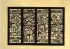 Entwurf für ein Glasfenster im Rathaus in Nassau