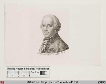 Bildnis Johann I. Fürst zu Liechtenstein (reg. 1805-36)