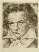 Lithographie Ludwig van Beethoven