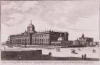 Prospect des Königl. Palais bei Potsdam, wie sich selbiges A nach Sanssoucy und B nach Bornstädt hin präsentiret