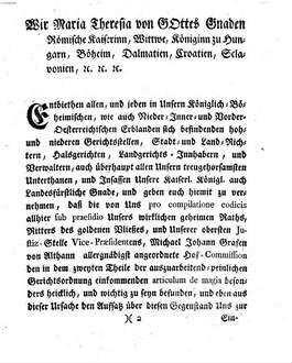 Sr. Kaiserlich-Königlich-Apostolischen Majestät allergnädigste Landesverordnung, wie es mit dem Hexenprocesse zu halten sey