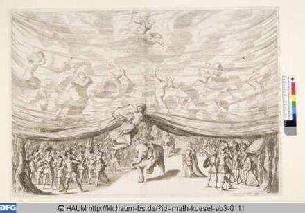 Bühnenbild zu 'La monarchia latina trionfante: 1. Bild: Vorhang