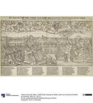 Taufe Christi, bezeugt von Martin Luther und Johannes Friedrich von Sachsen