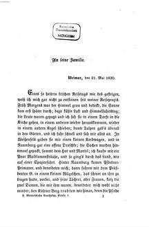 Briefe aus den Jahren 1830 bis 1847. 1, Reisebriefe aus den Jahres 1830 - 1832