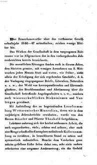Jahresbericht der Wetterauischen Gesellschaft für die Gesammte Naturkunde zu Hanau. 1846/47, 1846/47