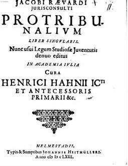 Protribunalium liber singularis