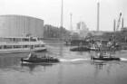 Rheinhafen Karlsruhe - Vertragsunterzeichnung zum Bau eines Hochwasserabsperrtors am Verbindungsbecken