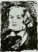 Brustbild Richard Wagner nach vorn. Lithografie von Auguste Renoir