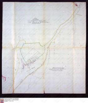 Lageplan zur Anlage eines Schießplatzes in der Gemarkung Gontershausen
