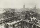 Dresden. Blick vom Turm des Ständehauses nach Süden über die Ruinen der Innenstadt