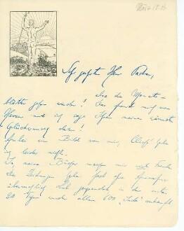 Brief von Börris Freiherr von Münchhausen