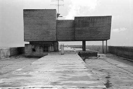 Berlin: Le Corbusier-Haus; Dachterrasse mit Aufbau