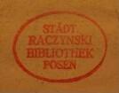 Stempel / Biblioteka Raczyńskich