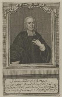 Bildnis des Johann Albrecht Bengel