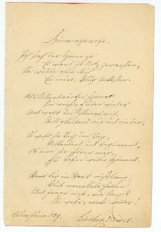 Albumblatt von Ludwig August Frankl