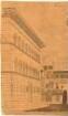 Fischer, Carl von; Italien; Reiseskizzen - Palazzo Strozzi in Florenz (Perspektive)