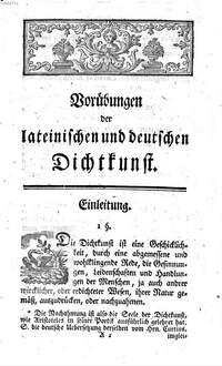 Vorübungen der lateinischen und deutschen Dichtkunst : Zum Gebrauche der Schulen