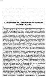 Klinische Mittheilungen aus dem Gebiete der Orthopädie und schwedischen Heilgymnastik