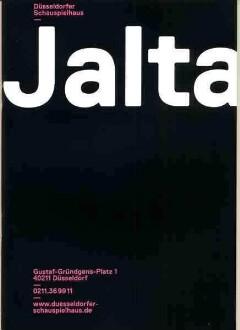 """Programmheft zu """"Jalta"""" von Lucas Svensson. Düsseldorf, 21.9.2013 (2013/2014)."""