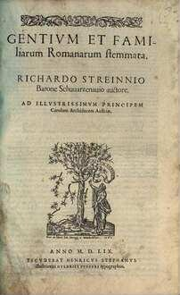 Gentivm Et Familiarum Romanarum stemmata