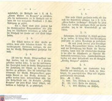 Schäferei-Statut für die Gemarkung Höckersdorf (Ausfertigung zwei Mal vorhanden)