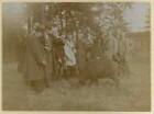 Moritzburg, Mitglieder der Ornithologen-Tagung bei einem Ausflug nach Moritzburg mit einem Wildschwein