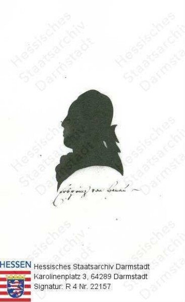 Wilhelm IX. Landgraf v. Hessen-Kassel, 1803 Kurfürst Wilhelm I. (1743-1821) / Porträt, im Profil, Kopfbild, mit Bildlegende