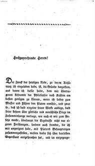 Platon : Eine Rede ; Gehalten zu Bonn den 22. April 1819 bei Eröffnung seiner Vorträge über Platons Lehre von den göttlichen und menschlichen Dingen