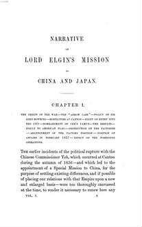 Narrative of the Earl of Elgin's Mission to China and Japan in the Years 1857, '58, '59. 1