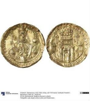 Goldbulle Friedrich I. Barbarossa