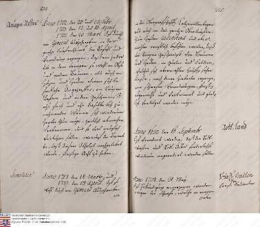 Spezial-Dekret: legt den Rang des Oberjägers Roth gegenüber dem Sekretär fest