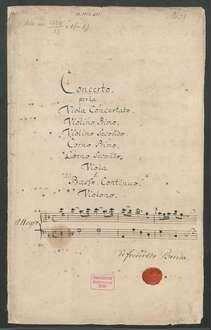 Konzerte; vla, orch, bc; F-Dur; LorB 314