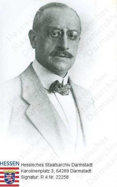 Hochgesand, Ludwig Dr. med. (* 1865) / Porträt, Brustbild