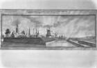 Ansicht von Riga mit Bastionen und Ravelin