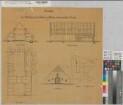Gemen (Borken) - Bauerschaft Wirthe - Pachtung Böing - Durchbau des Wohnhauses - Schnitte, Grundriß, Ansicht, Lageplan - 1909 - 1 : 100/500 - 62 x 66 - Zeichnung - Landsberg-Velensches Bauamt - Landsberg-Velen