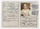 Kennkarte für Eva Klemperer geb. Schlemmer vom 13.12.1940. Innenseiten mit Paßbild