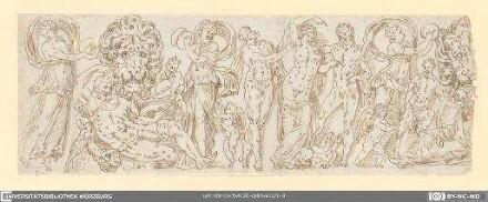 Bacchanal mit Löwenköpfen